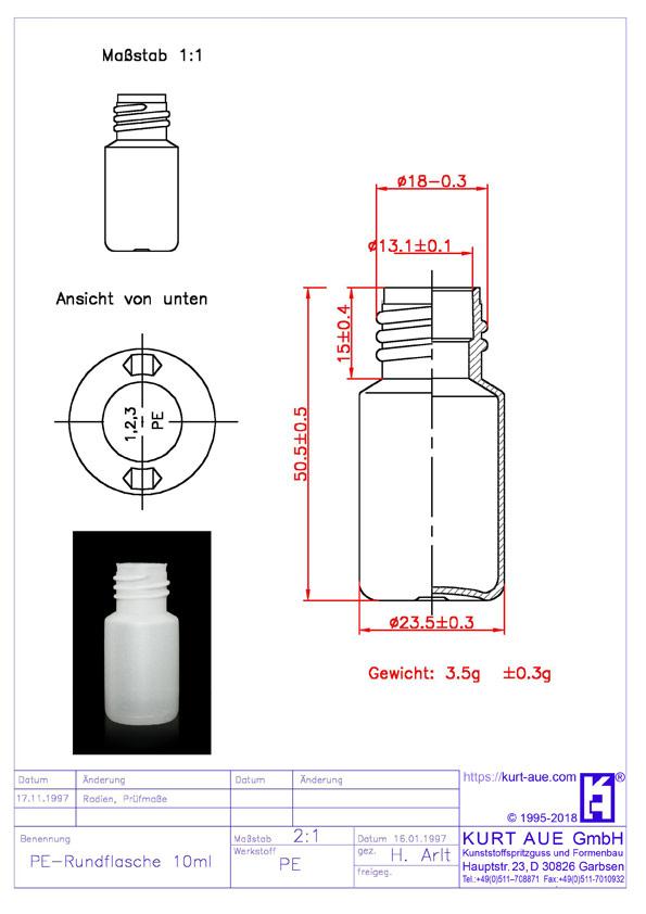 Rundflasche 10ml P18-13,25