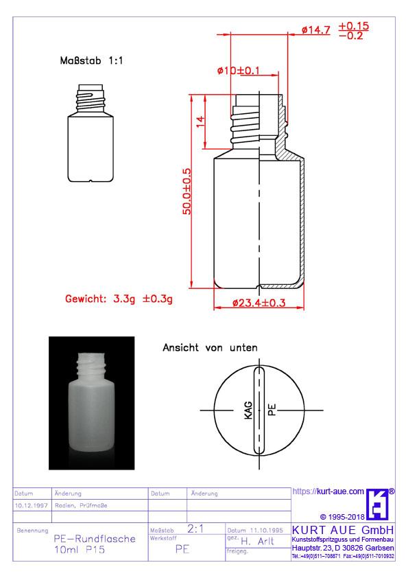 Rundflasche 10ml
