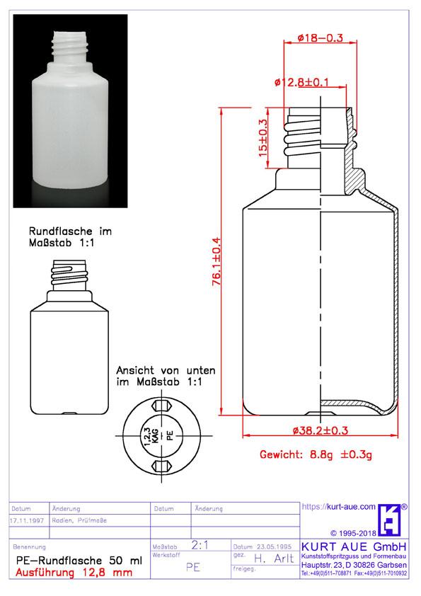 Rundflasche 50ml P18-12.8