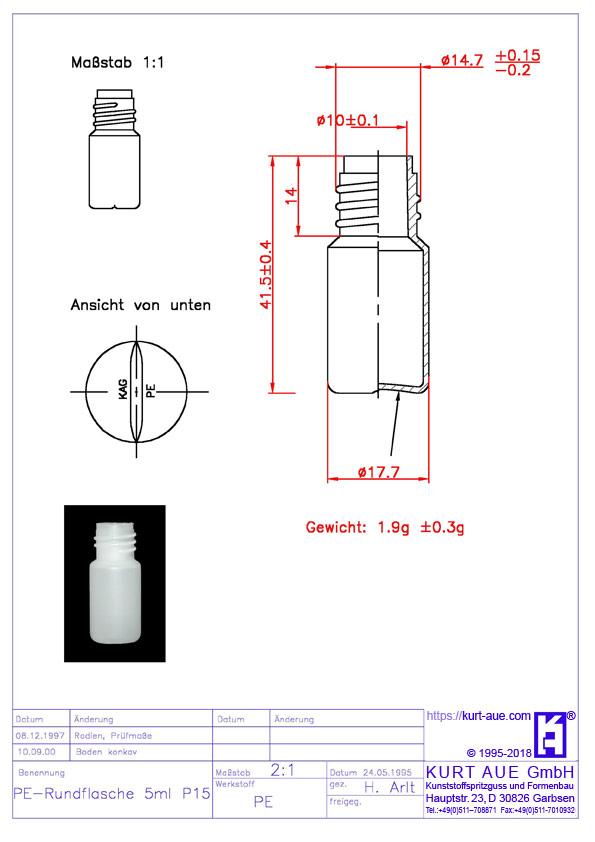 Rundflasche 5ml