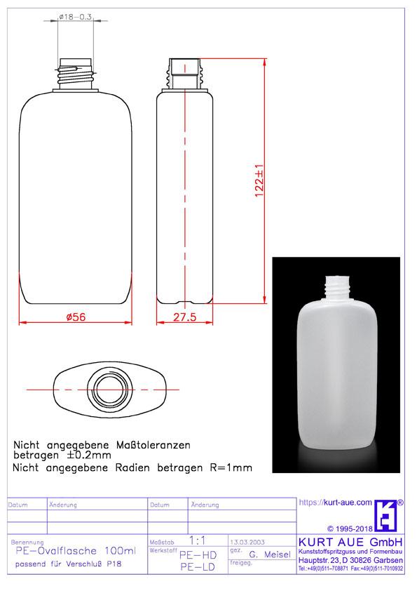 Ovalflasche 100ml