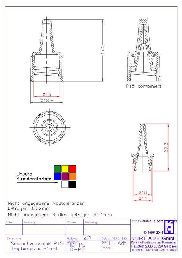 Schraubverschluss P15