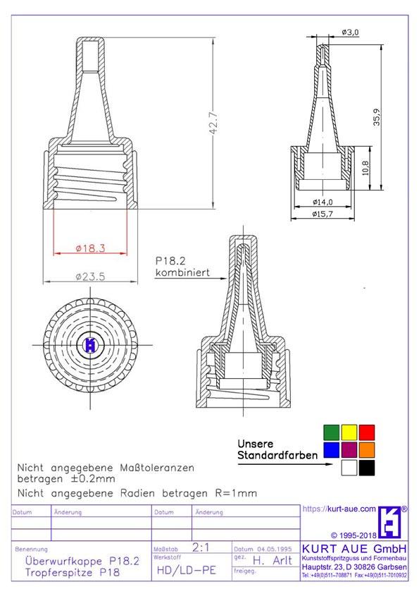 PE Schraubverschluss P18.2-K