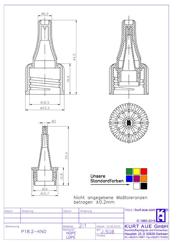 Schraubverschluss P18.2-KNO